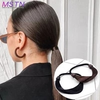 mstn synthetic ladies braid headband synthetic braid hair extension tied to the hair black brown natural invisible wig jewelry
