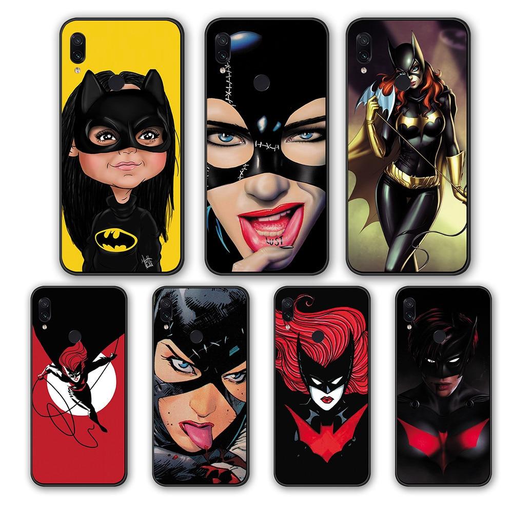 Funda de silicona TPU para Xiaomi Redmi Note 7 8 Pro K20 GO Redmi S2 6A 5A 4A 4 5 6 Pro Marvel heroine Batwoman