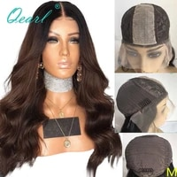 body wave human hair frontal wig ombre black brown silk top wigs for women glueless remy hair lace wigs 2x6 150 natural qearl