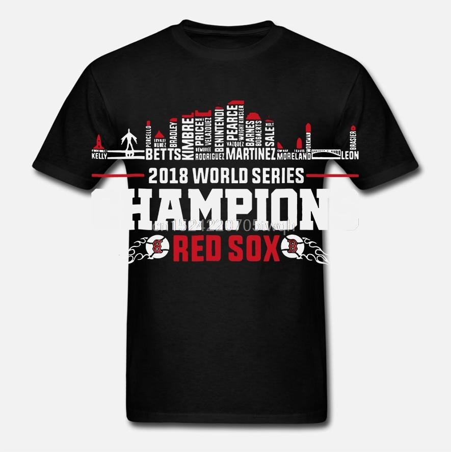 Men Funny T Shirt Fashion tshirt World Series Champions Red Sox Women t-shirt