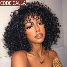Brazilian Afro Kinky Curly Hair Weave Bundles Code Calla non Remy 100% Human Hair Extensions 1/3/4Pcs Curly Hair Bundles Deal