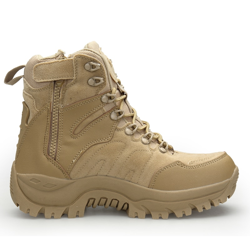 Купить с кэшбэком 2021 New Winter Combat Boots Mens Military Desert Boots Casual Shoes Men Autumn Breathable Snow Ankle Safety Work Boots Botas