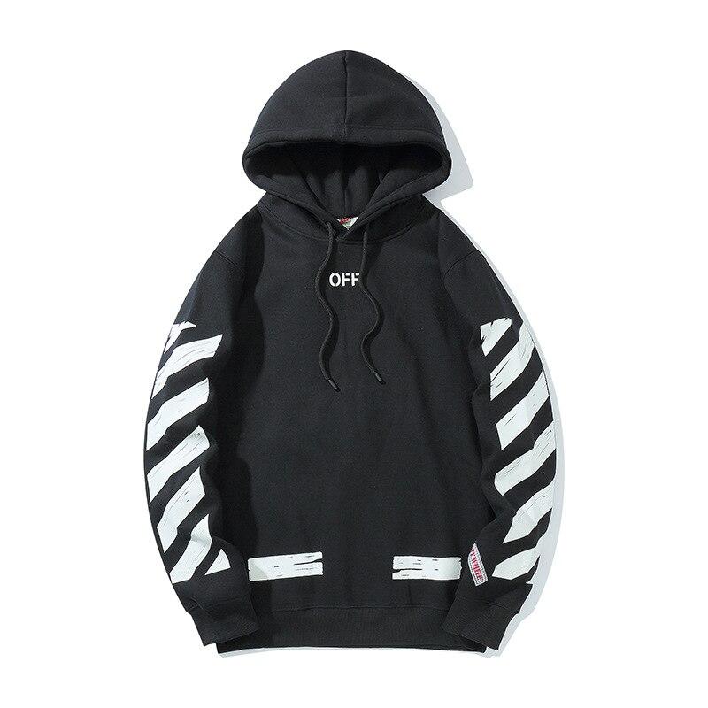 Men's winter new velvet sweater graffiti basic hooded jacket