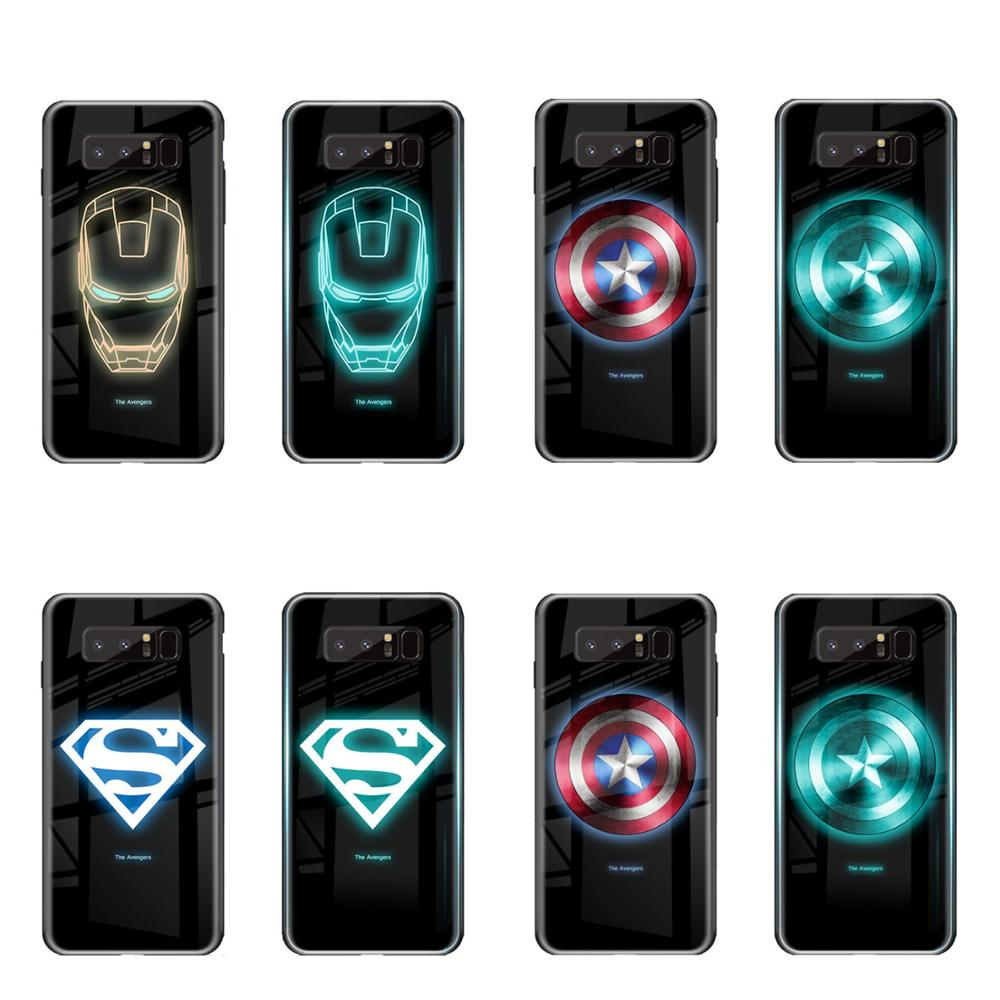 Nueva tendencia, carcasa luminosa de cristal para iphone SE 2020 11 pro Max 7 8 6s Plus, funda protectora para iphone Xs Max Xr