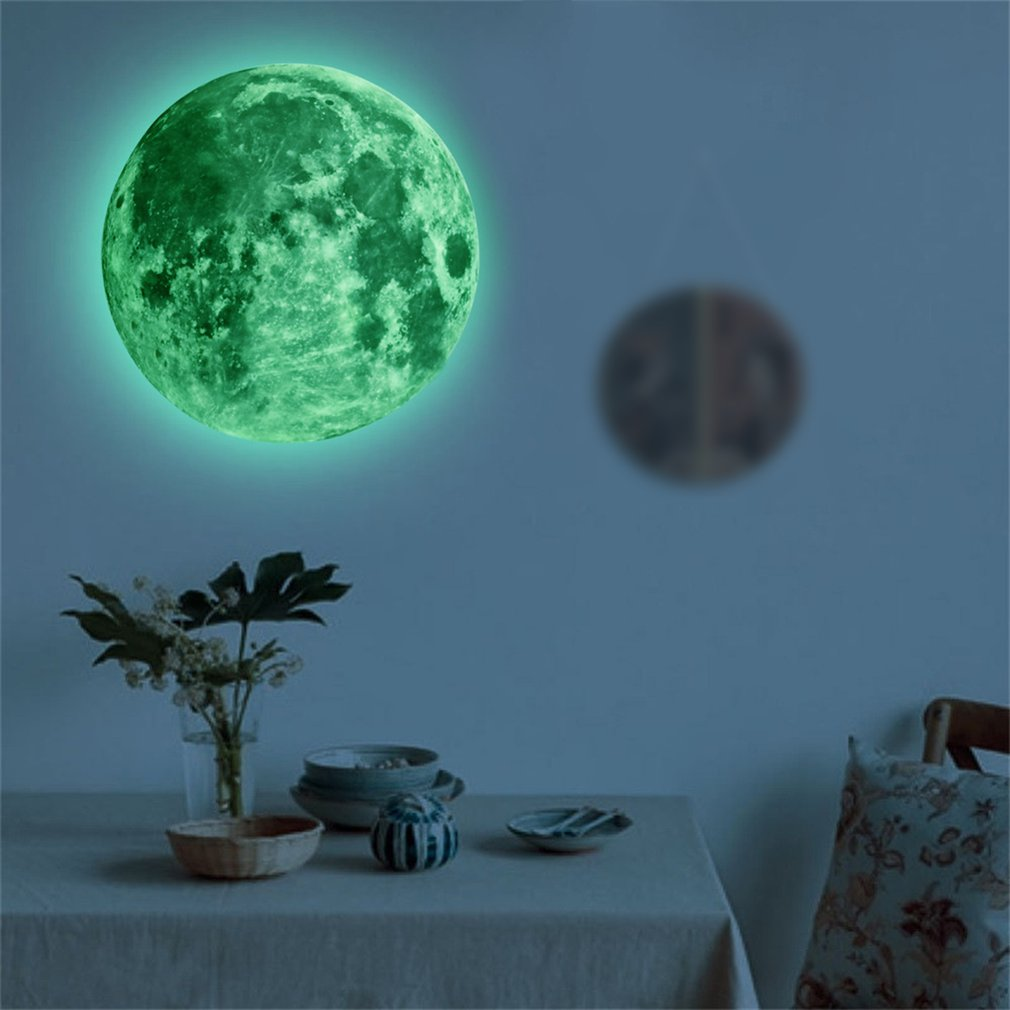 child s room wall stikers 100pcs 3d stars glow shine in the dark luminous wall glowing stickers for living room home decoration 30cm Luminous Moon 3D Wall Sticker for kids room living room bedroom decoration home decals Glow in the dark Wall Stickers