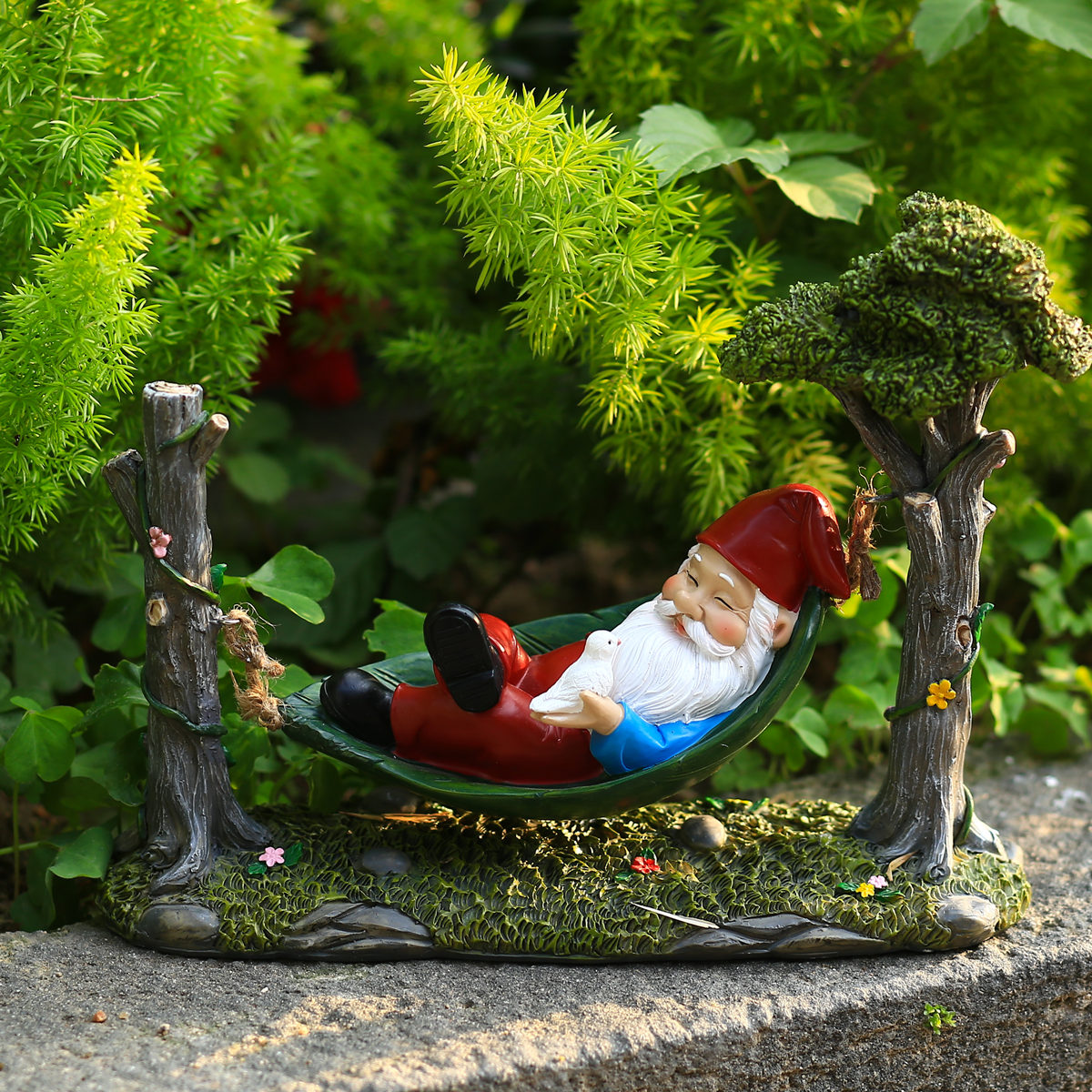 أرجوحة التماثيل غنوم الراتنج التماثيل حديقة زخرفة مضحك القزم النحت مصغرة ديكور للحديقة لمصغرة الغابات