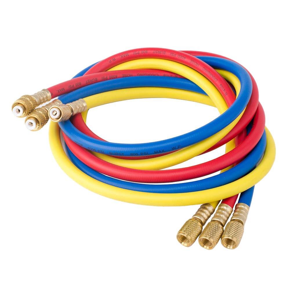 """Бесплатная доставка 36 """"A/C Набор зарядных шлангов для HVAC кондиционер Хладагент R12 R22 R502"""