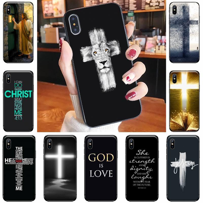 Bíblia jesus cristo cruz cristã caso de telefone para iphone 11 12 pro xs max 8 7 6s plus x 5S se 2020 xr