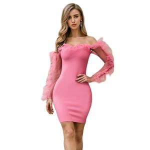 Newest Woman Bandage Dress Women Sleeveless Long Sleeve Sexy Club Backless Evening Party Bodycon Dress Women Vestidos