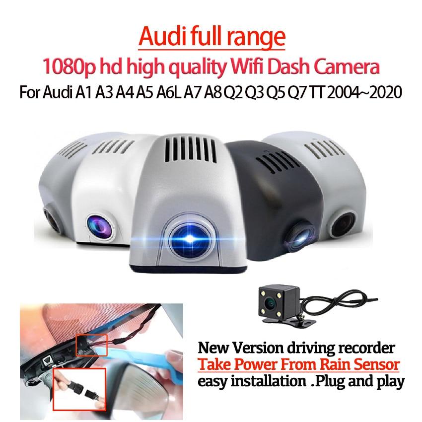 HD 1080P سيارة DVR ثنائي النواة نوفاتيك 96675 Wifi داش كاميرا فيديو مسجل لأودي A1 A3 A4 A5 A6L A7 A8 Q2 Q3 Q5 Q7 TT 2004 ~ 2020
