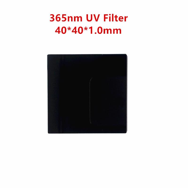 40*40*1mm 365nm ZWB2 UG1 UV Pass Filter Ultraviolet Bandpass Glass U-360