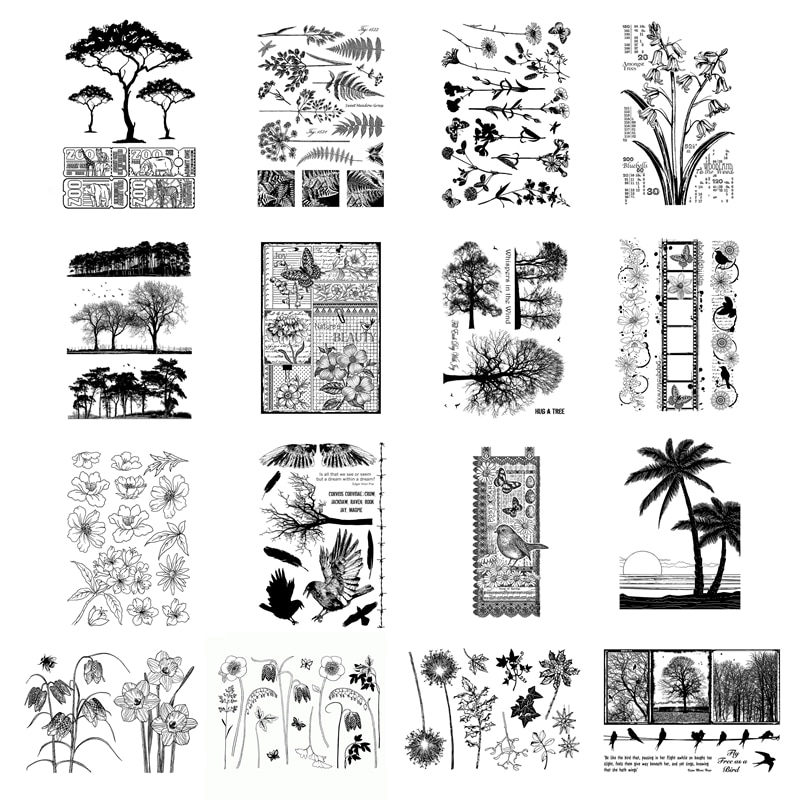 New Arrival Plant Clear Stamps 2021 For Scrapbooking Paper Making Tree Flower Leave Account Craft Set Card Transparent Seal
