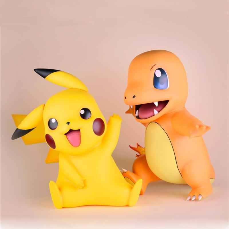 1/1 Cute Cartoon Pikachu Charmander Figures Big Size 40cm Anime 144 Pokemons Action Figure PVC Model Takara Tomy Toys Kids Gifts