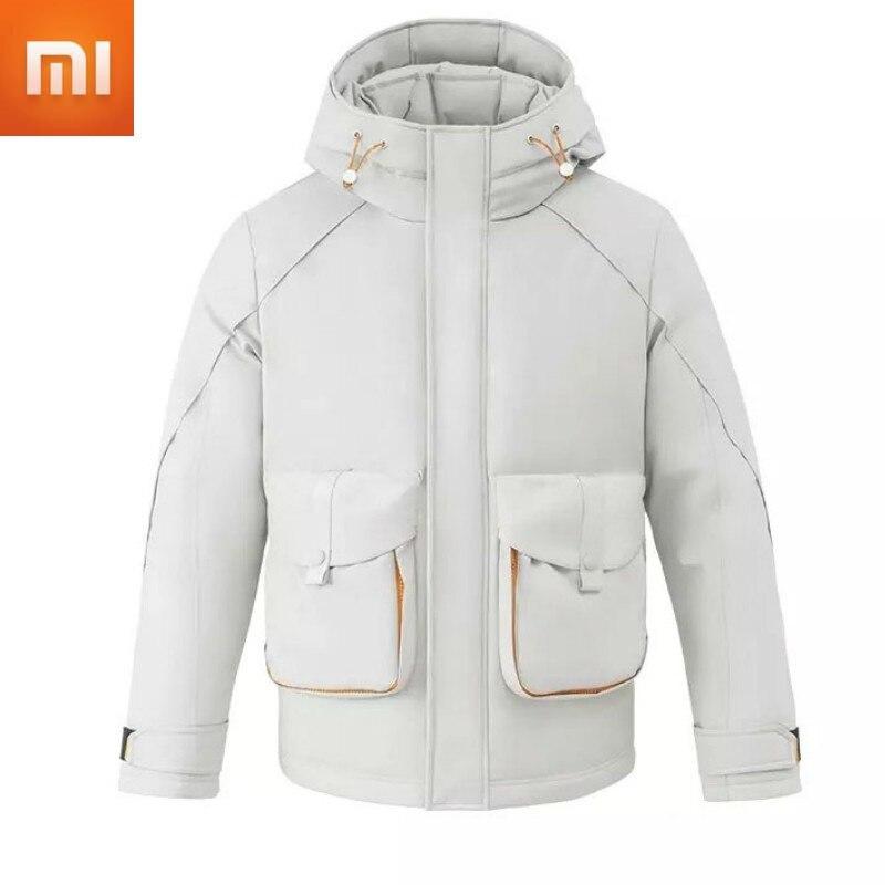 Xiaomi Urevo-معطف شتوي دافئ ، جاكيت مقاوم للماء ، مقاوم للرياح ، بجيب على شكل حرف U ، تصميم عصري ، للرجال