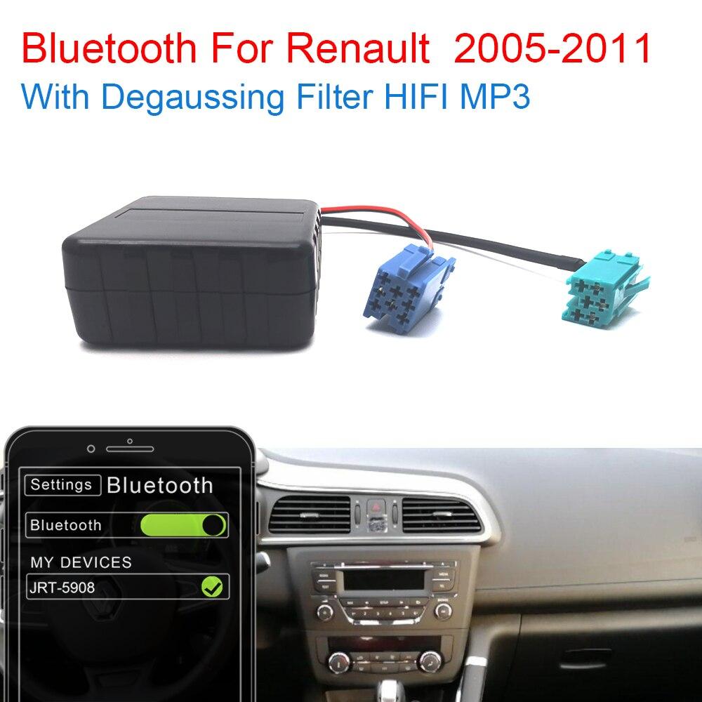 Автомобильный комплект AUX Bluetooth 5,0 HIFI Mp3 аудио 8 6 контактов MINI ISO штекер Кабель-адаптер для Renault обновление 2005 2006 2008 2011 радио