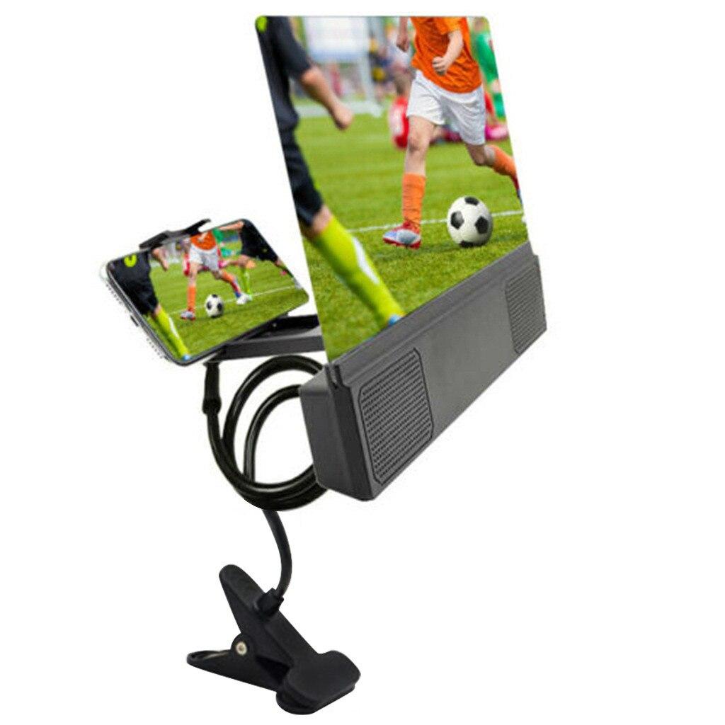 Soporte del amplificador de pantalla de teléfono móvil Ouhaobin soporte de proyección HD pantalla de 12 pulgadas con altavoz Accesorios para teléfono móvil