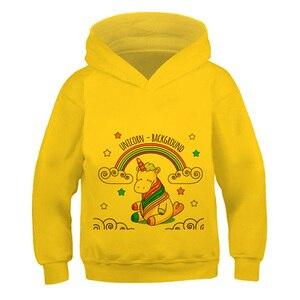 Haraju Cut unicorn printing pattern New 2021 3--14 Pullover Impostor New Hoodie Boys Girl Long Sleeve Sweatshirts kid Streetwear