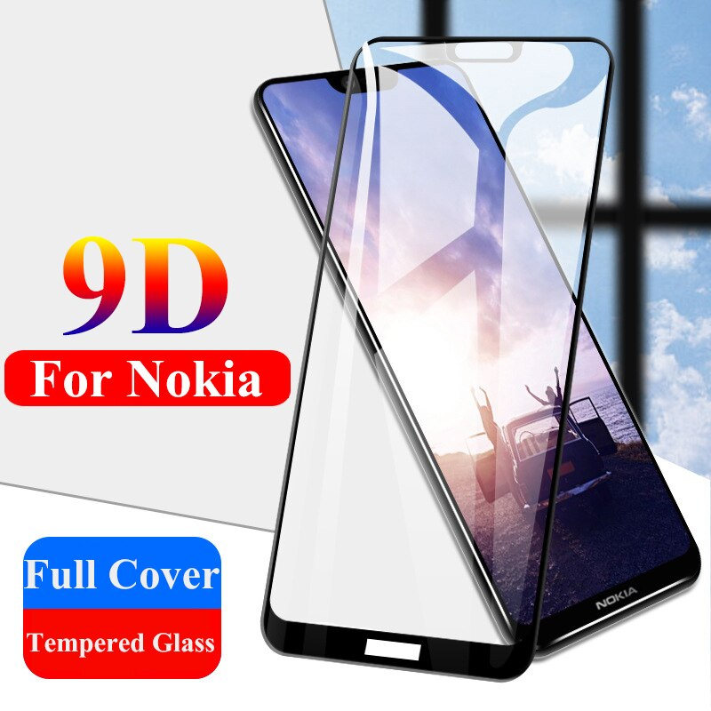 9d cobertura de vidro temperado para nokia 4.2 5 5.1 mais cobertura completa toda a cola vidro protetor para nokia 1 plus 2 2.1 3 3.1 3.2