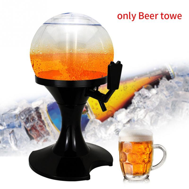 Máquina vertedora de 3,5 l, torre de cerveza, dispensador de bebidas, herramienta, barra contenedora de plástico, práctico núcleo de hielo, duradera, forma de bola portátil