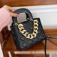 classic square mini crossbody bags for women 2021 quilted thick chain shoulder bag female purses designer handbags clutch totes