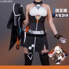 Anime! Honkai Impact 3 Kiana Kaslana TianQiongYouXia Battle Suit Sexy Dress Uniform Cosplay Costume Halloween NEW Free Shipping