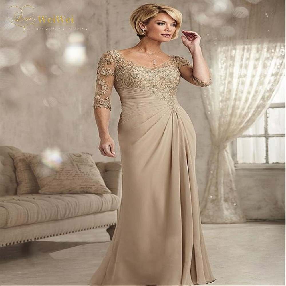 Элегантные-платья-цвета-шампанского-для-матери-невесты-женское-вечернее-платье-с-v-образным-вырезом-и-рукавом-до-локтя