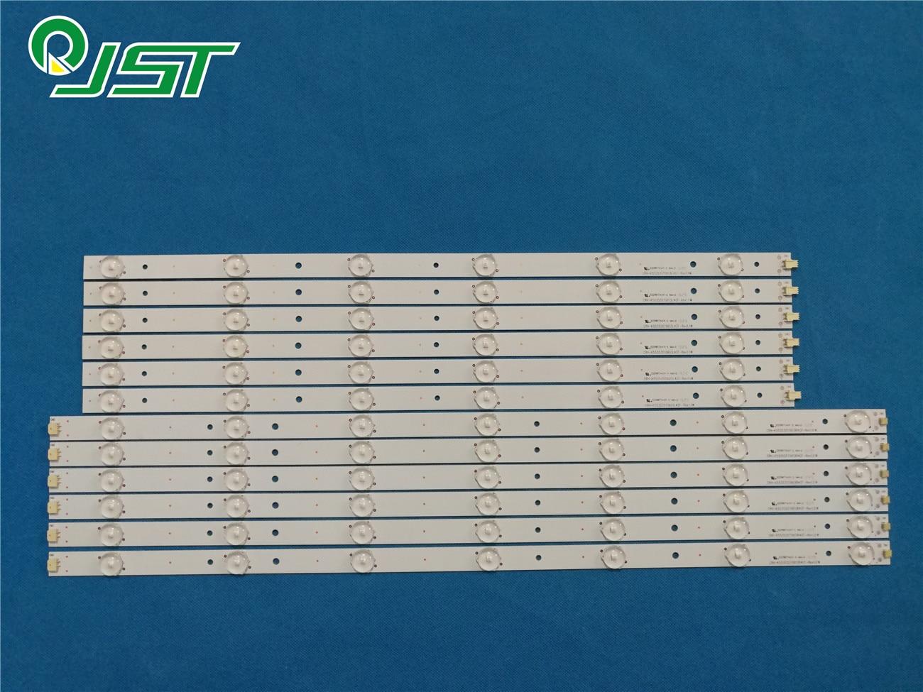 100% novo 12 pçs/kit tiras de led para hai er 55 tv 55e5500u cn55gk720 crh k5535t0613 crh k553535t0613l4cf rev1.1 w