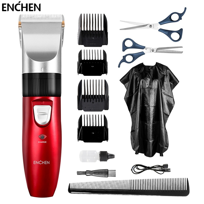 ENCHEN Men's Electric Hair Trimmer Kit Professional Cordless Hair Cutter Machine USB Rechargeable Cl