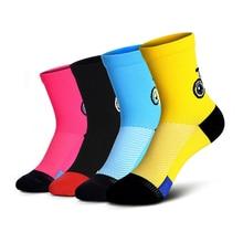 4 paires enfants cyclisme chaussettes drôle dessin animé motif sport chaussettes garçons fille en plein air course athlétique vêtements respirant coton chaussettes