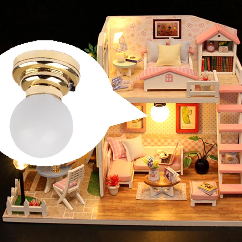Modern Design 3 Piece Light Models - Mini LED Table Ceiling Lamp Chandelier For 1/12 Dollhouse Accessory