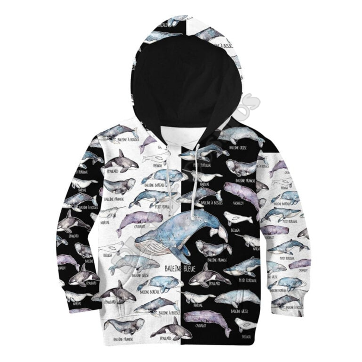 Sea Love Whale 3D Printed Hoodies Kids Pullover Sweatshirt Tracksuit Jacket T Shirts Boy For Girl Fu