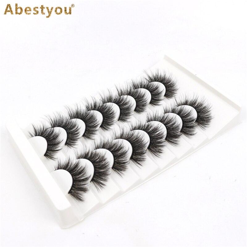 Abestyou 8 пар 3D Искусственные норковые ресницы пушистые мягкие объемные натуральные Длинные Накладные ресницы Многоразовые ресницы rzesy