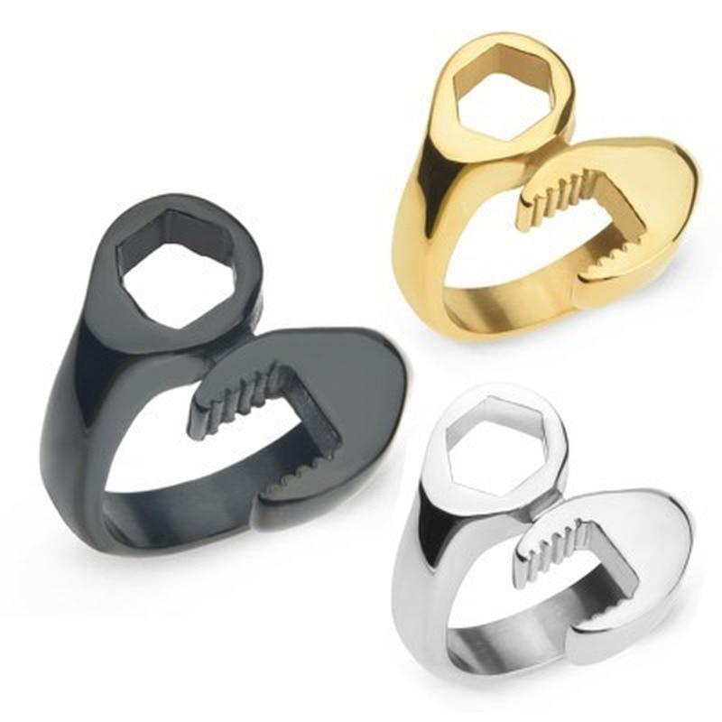 Регулируемый Палец Кольцо Байкер механический ключ стереоскопический модный стиль тяжелые металлы панк Рок Человек Металлический наручный браслет оптовая продажа