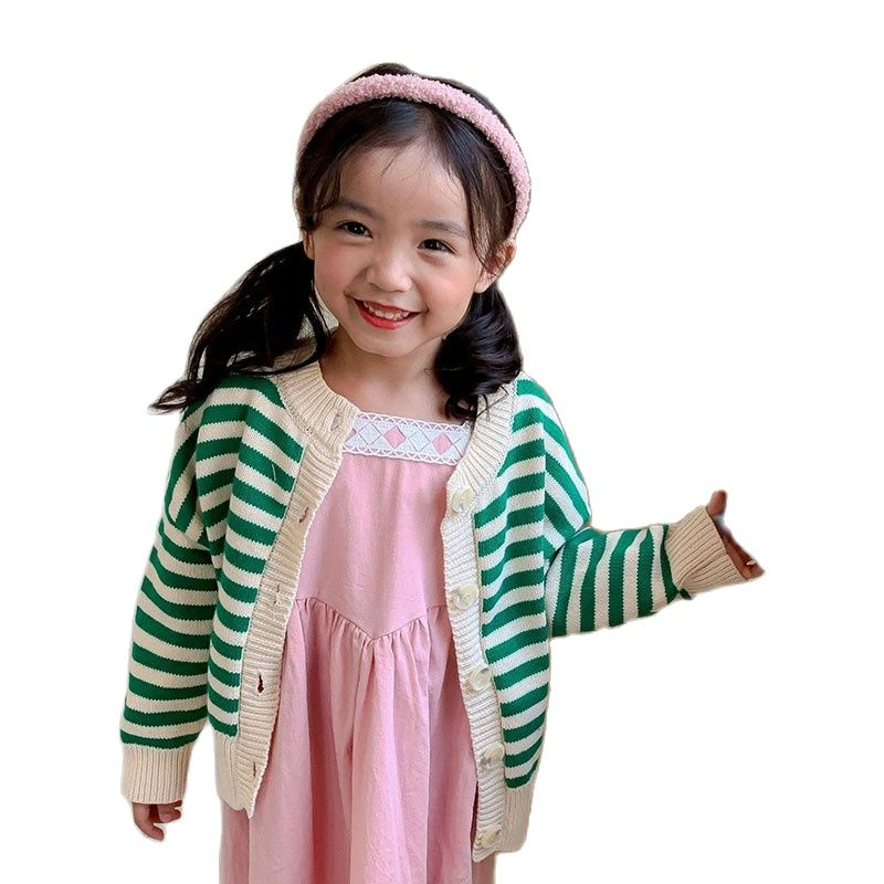 spring &Autumn Knitted Cardigan Sweater Baby Children Clothing Boys Girls Cute Striped Sweater Kids Wear Baby Boy Clothes Winter new design fall winter thanksgiving kids outfit wholesale children baby girls cute cheap kid clothes