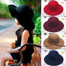Verano otoño niños sombreros para bebé niña dulce Bowknot Bowler Playa Sol proteger gorras sombrero niño fotografía apoyos de fotografía de 2-8T