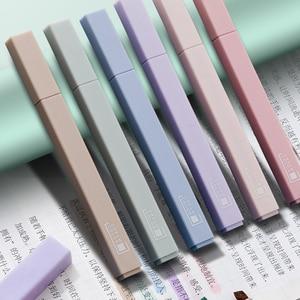 6 Colors Soft Gentle Colors Highlighters Set Creative School Office Stationery Supplies Free Shipping