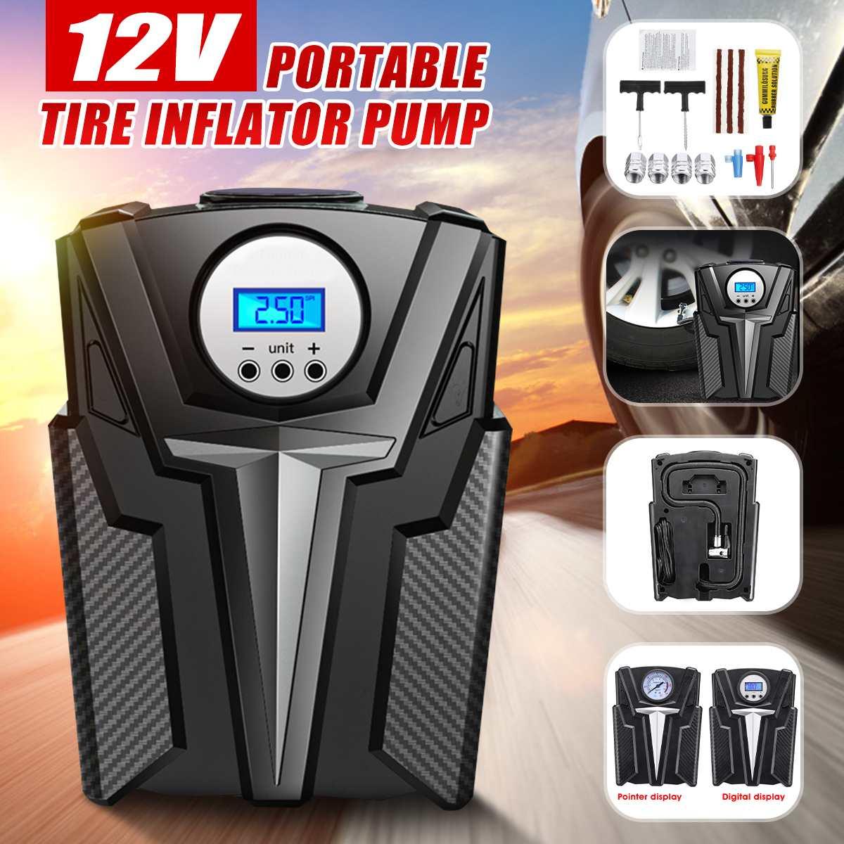 Bomba inflable Digital 12V 150 PSI HF dcportátil, Mini rueda de coche, compresor de aire, máquina eléctrica de inflado, bombas de boquilla