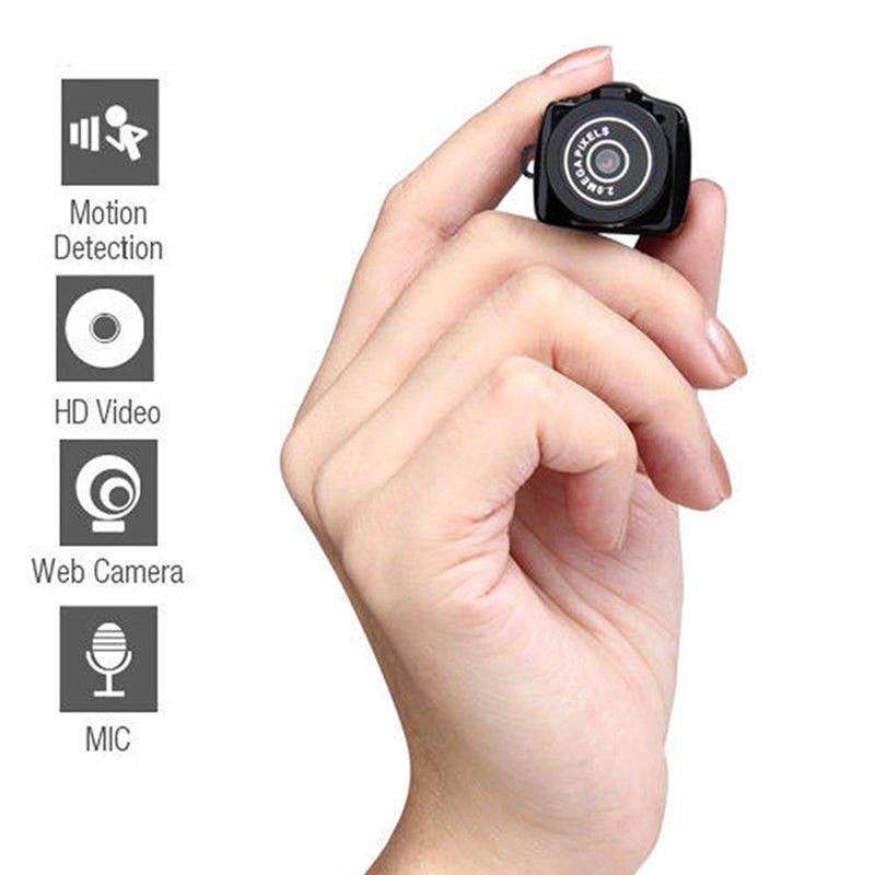 Portable Webcam Recorder Camera Y2000 Mini Camera Camcorder HD 1080P Micro DVR Camcorder  detection