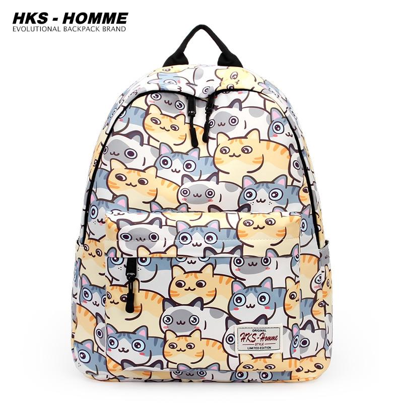 School Backpack Women Men 2021 New Female Cute Cartoon Students Schoolbag Shoulder Bags Fashion Canvas Laptop Backpacks Bag