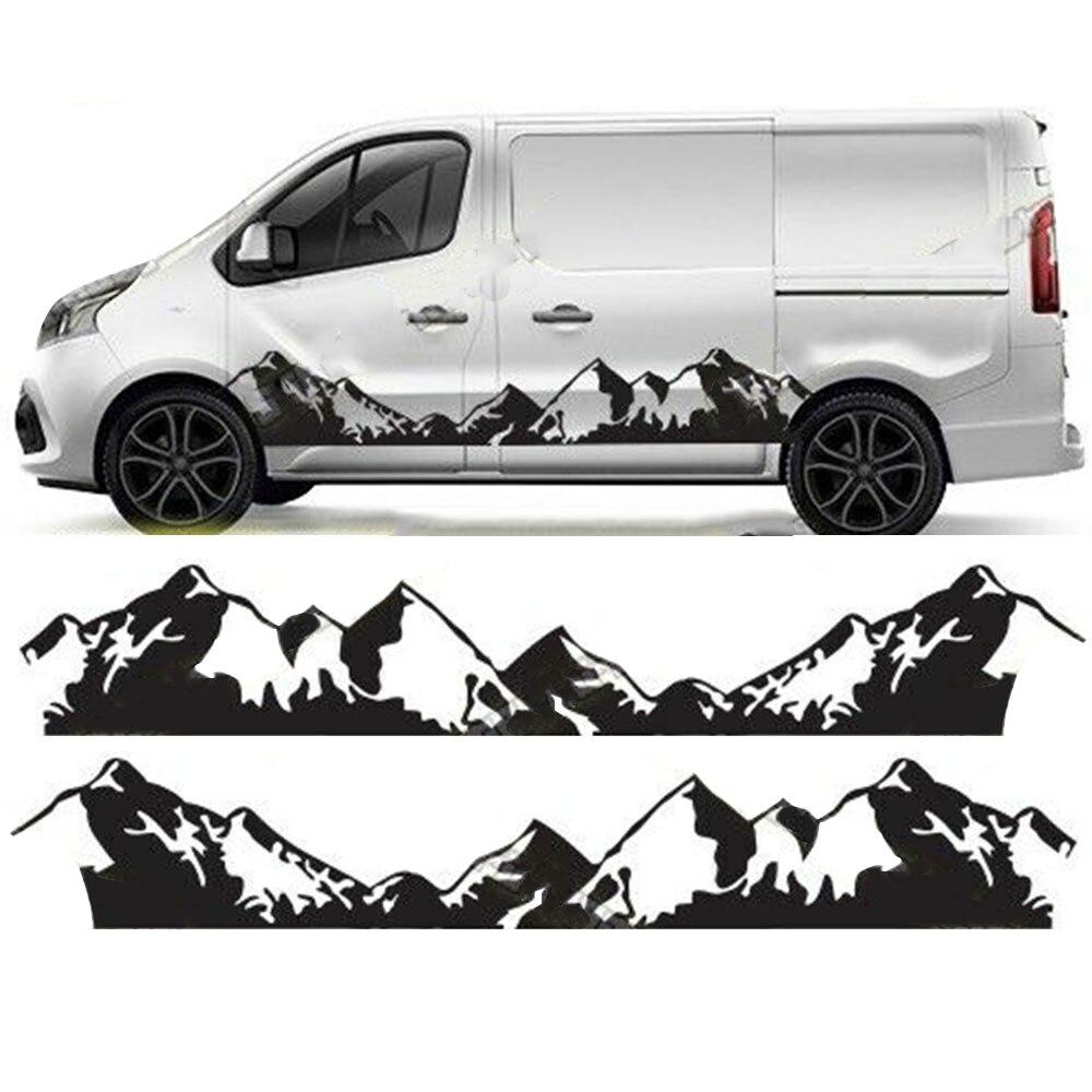 Pegatinas gráficas para autocaravana, autocaravana, furgoneta, montaña, Crafter, Mercedes Sprinter