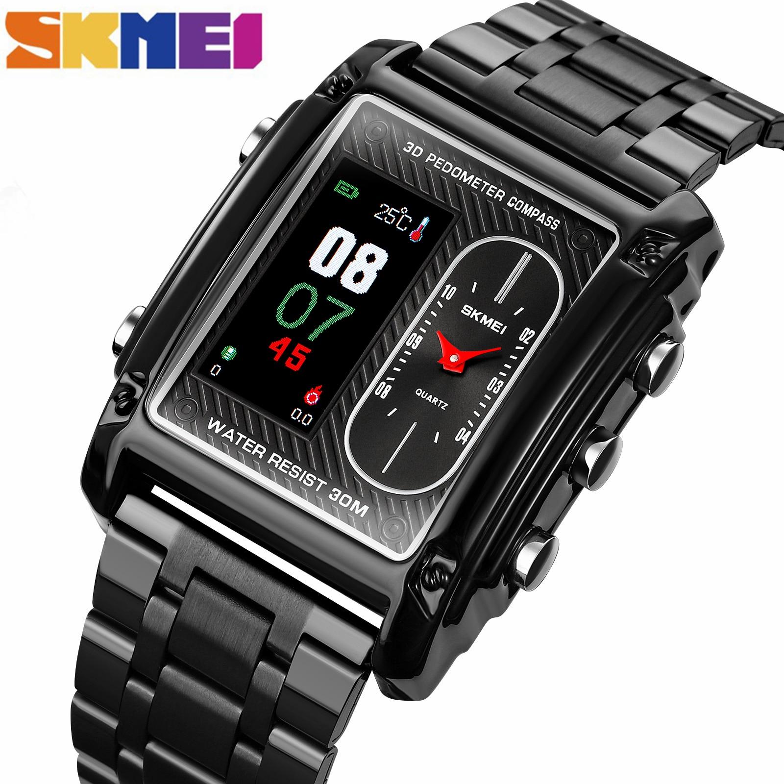 SKMEI Business Luxury Men Digital Watch Waterproof Male Clock 2021 Luxury Brand WristwatchesRelogio