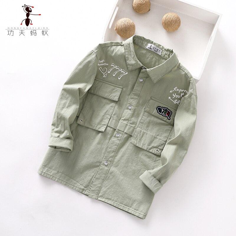 Gran oferta de los niños de Moda Verde algodón simple 100% 3-10 años de edad los niños ropa de primavera y verano