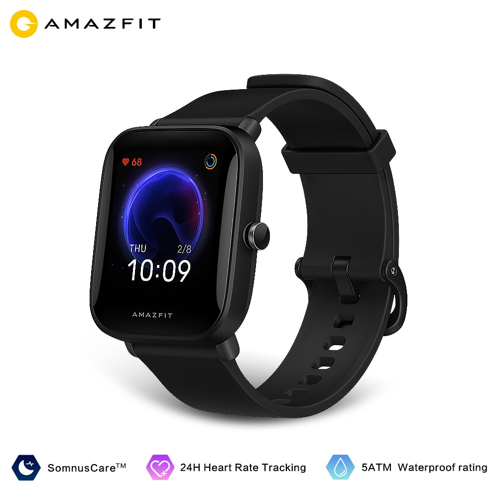 Amazfit Bip U Pro Smartwatch 5ATM Water Resistant Color Display GLONASS Sleep Monitoring Sport Tracking for Android Ios