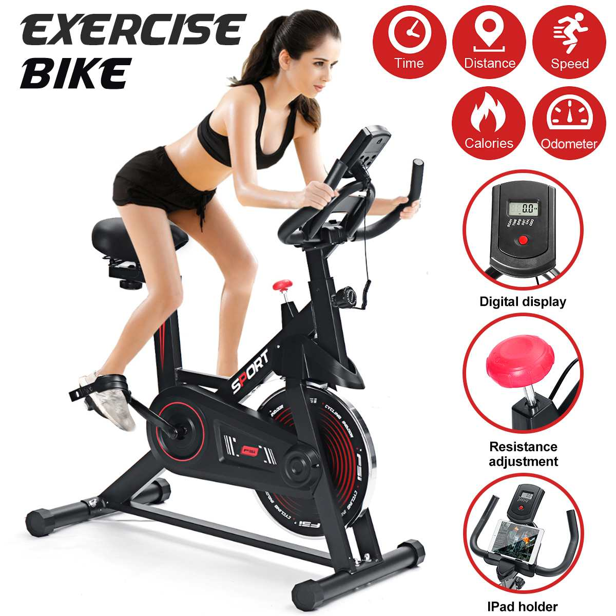 Exercise Bike Smart Indoor Cycling Home Mute Weight Loss Machine Gym Training Bicycle Fitness Equipm