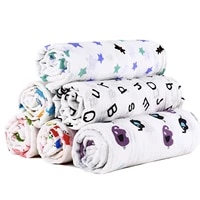 100 muslin cotton blankets cartoon patterns multi use newborn swaddle muslin infant gauze both towel baby warp