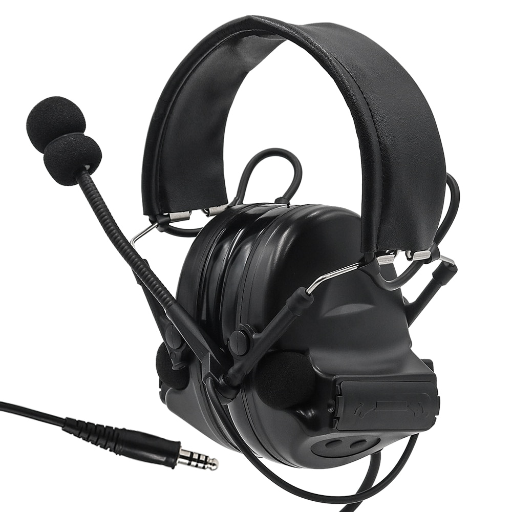 COMTAC Tactical Headset Comtac II Active Noise Canceling Pickup Headphone Airsoft Military Hunting Tactical Shooting Earmuffs BK