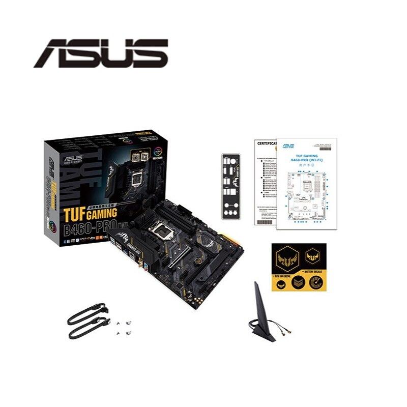 Nova placa-mãe para asus tuf gaming B460-PRO (wi-fi) original desktop intel b460 placa-mãe lga 1200 i7/i5/i3 usb3.0 m.2 sata3