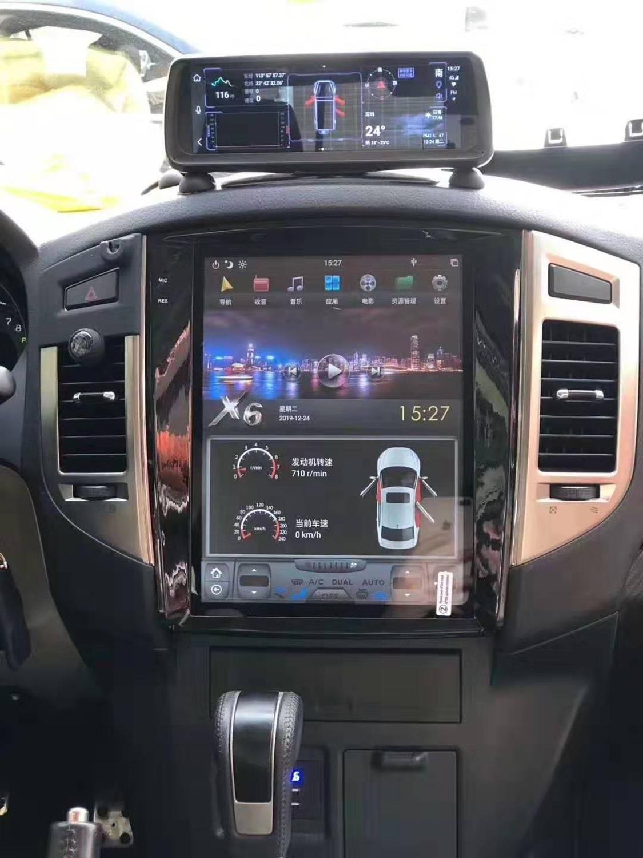 "12,1 ""de pantalla Vertical Radio del coche para Mitsubishi Pajero Sport V97 V93 Rockford GPS PX6 tesla carplay Android 8,1 coche Multimedia"
