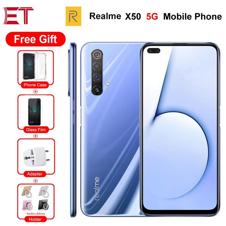 "Brand New Realme X50 5G Mobile Phone 6.57"" 6/8/12GB RAM 64/128/256GB ROM Snapdragon765G 64MP 4200mAh NFC 5G Phone Android 10.0"