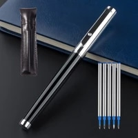 luxury metal silver black signature ballpoint pens for business writing office school supplies stationery gift